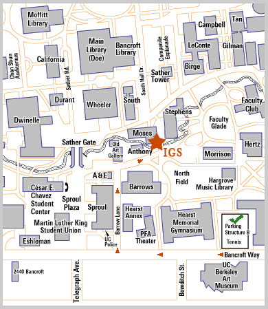 Directions to IGS Institute of Governmental Studies UC Berkeley