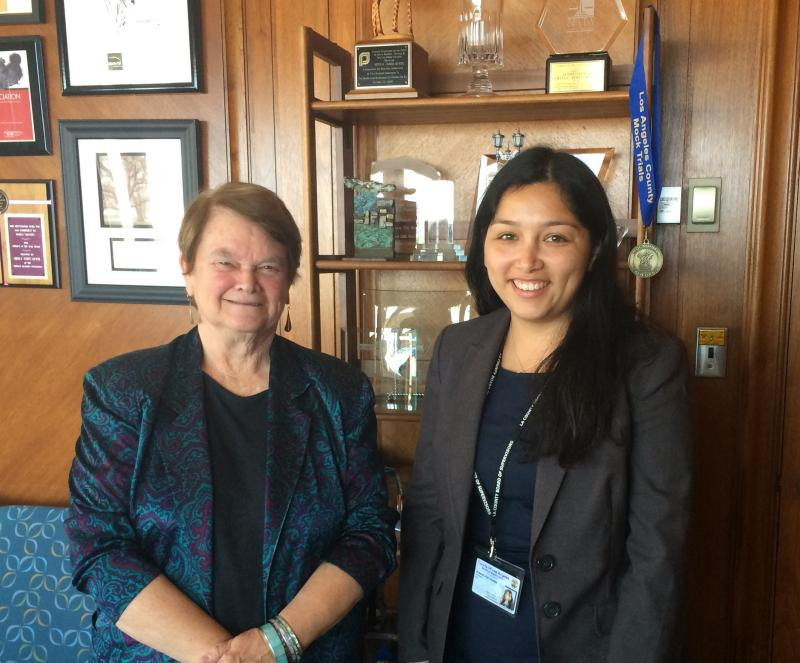 Me with Supervisor Sheila Kuehl in the main office