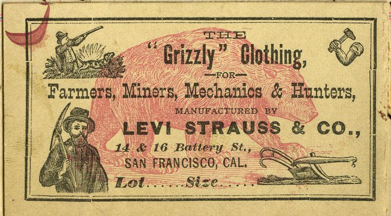 Levi's grizzly clothing label