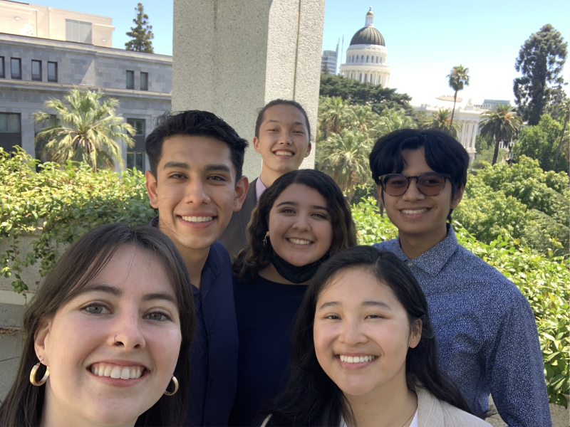 Cal in Sec Fellows with Capitol in background