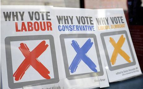 UK election signs