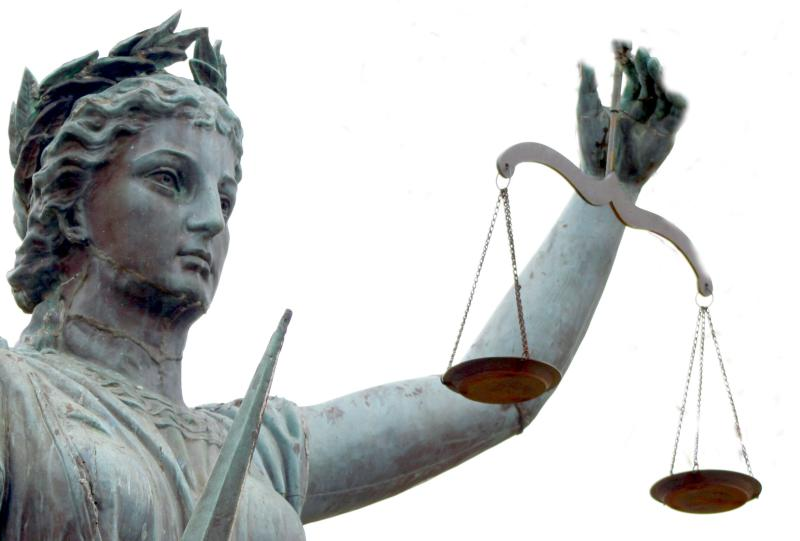 statue of justice holding scales