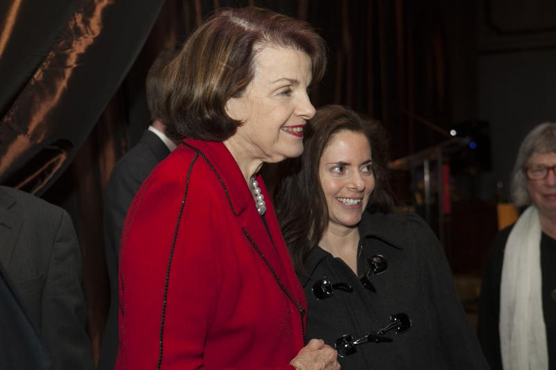 Senator Feinstein with a guest at the IGS Salon dinner
