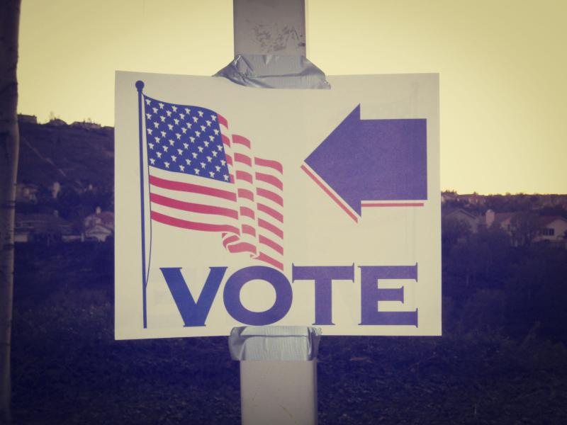 vote sign photo by flickr user kristinausk