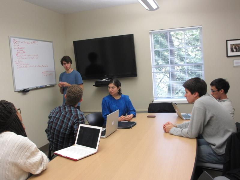 Students in the Matsui Study room