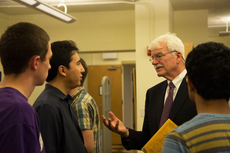 George Miller with students