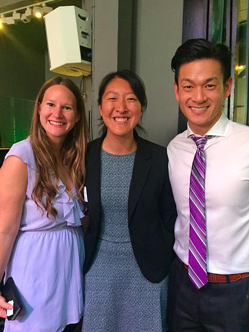 Cal-in-Sac Fellows Courtney Sarkin, Kat Nham and Assemblymember Evan Low