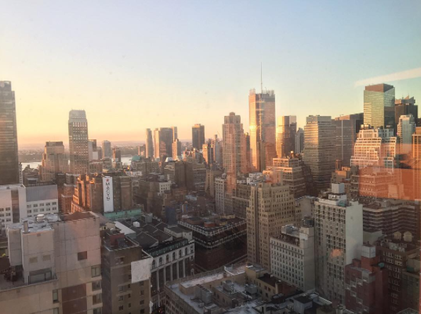 view of New York from Human Rights Watch office