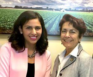Yvonne Dorantes with Assemblymember Anna Caballero