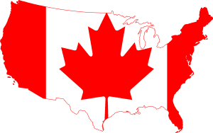 canada-flag-us-map