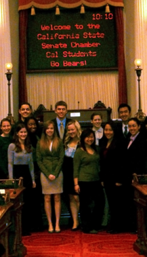 Cal in Sac students in California senate chamber