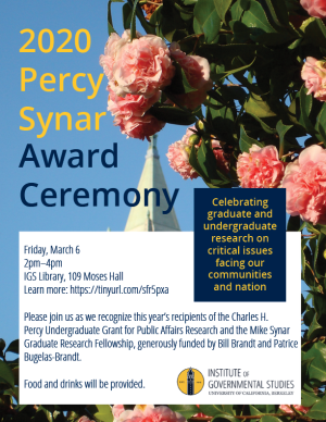 Percy Synar Award Flyer
