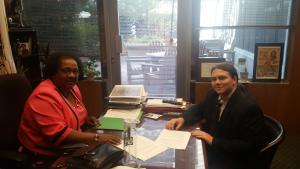 Assemblymember Shirley Weber with Jeff Meyers