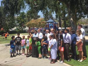 Press conference that Martinez organized on Friday July 1, at Echo Park