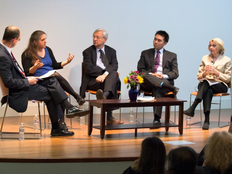panelists at annual review of presidency event