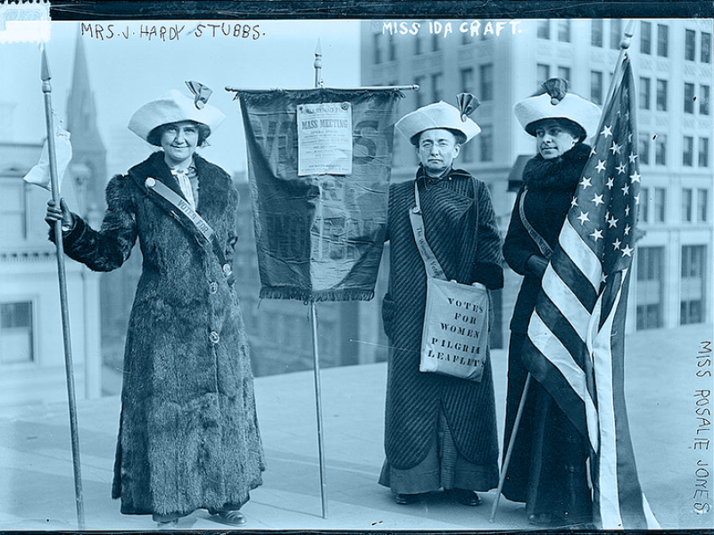 vintage photo of women suffragettes