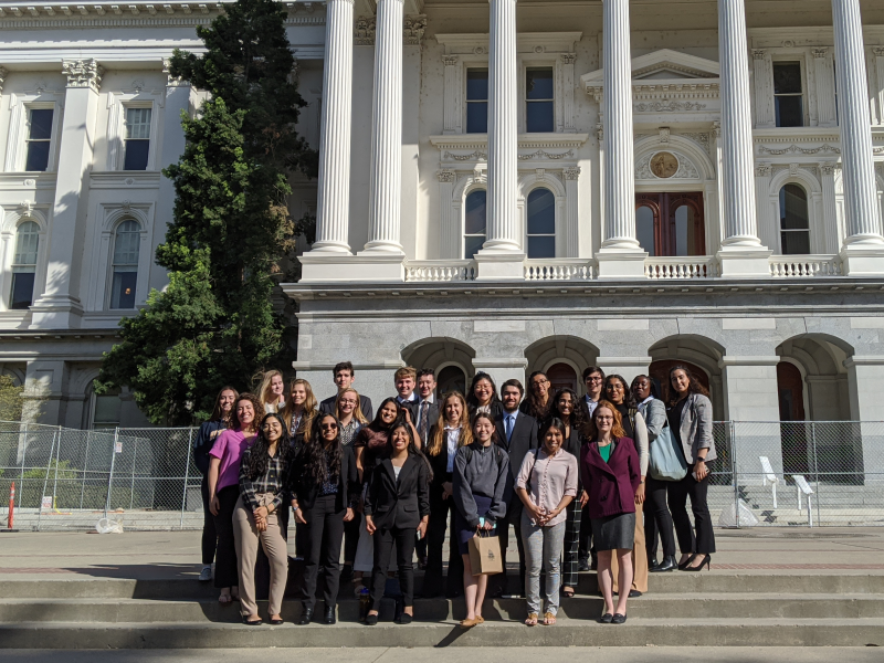 2020 Cal-in-Sac Fellows on the steps of the State House in Sacramento