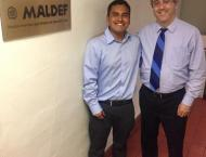 Boomer with MALDEF President Thomas A. Saenz