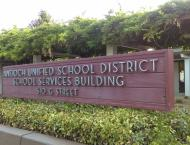 The front of the AUSD district office