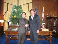 Alex Hirsch with Lieutenant Governor John Garamendi, 2009