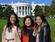 White House rose garden tour (Matsui Washington Fellow Trinh Nguyen center)