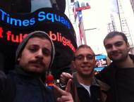 Bears at Times Square (the timing of this picture was purely coincidental, too!).