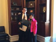 Rep. Matsui and me.