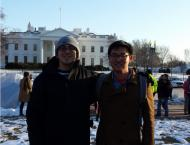 My friend David and I outside the White House