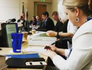 A snapshot of California Environmental Policy Council members at the most recent CEPC meeting discussing biodiesel and renewable diesel.