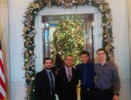 Cal Bears at the White House during Christmas.