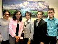 Yvonne with Assemblymember Caballero & other interns