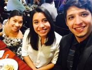 Carli Yoro and Gaby Bermudez along with Robert grabbing a bite to eat after work to celebrate gabby birthday. Cal-in-Sac interns bring diversity to the capitol.