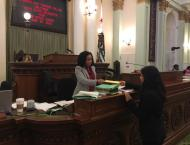 I got to put my first bill across the desk! AJR 24 deals with visas for South Korean nationals.