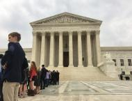 In line in front of the Supreme Court