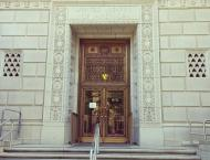 Entrance to the federal building that houses the Office of the Federal Defender, Eastern District of California.