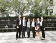 The Misdemeanor Unit team consisting of law students and undergraduates from across the United States after our first court appearance at the United States District Court, Eastern District of California.