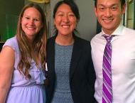 Kat Nham and me with Assemblymember Evan Low at the annual Cal-in-Sac Reception.