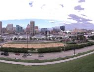 A view from Federal Hill in Baltimore. As you overlook the harbor, you can tell why they call it Charm City.