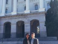 On my first day with my best friend and another Cal-in-Sac fellow, Chris Orner.
