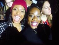 My friends and I at the concert, plus my big goofy smile!