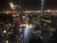 The view of the skyline from the Top of the Rock!