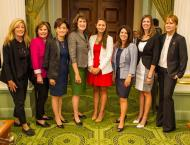 Me with Assemblymembers Marie Waldron, Beth Gaines, Young Kim, Catharine Baker, Melissa Melendez, Kristin Olsen, and Ling Ling Chang