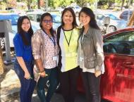 Part of the Planning Dept team. from left: Angelica-Associate Planner, Dulce-Intern, Jo-Anmarie-Planning Technician, Estephanie-Assistant Planner
