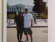 My Dad and me in front of the White House!