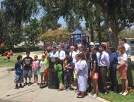 Press conference that Martinez organized on Friday July 1, at Echo Park, promoting the Summer Meal Program provided by the collaboration of the USDA and the California Department of Education. Research has shown that participation in these programs increases when elected officials promote them and publicly support them.