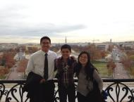 View from the Speaker's balcony (Matsui Washington Fellow Trinh Nguyen right), Washington, DC