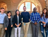 Zack Weinberg (l) with internship colleagues at SF City Hall