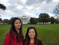 My friend and I at the White House!